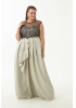 Gold plus size velvet 13 sleeveless maxi dress