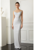 White velvet 13 sleeveless maxi dress