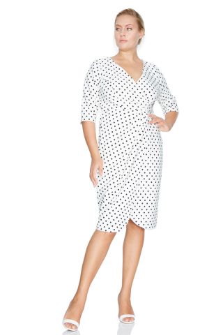 Print f78 plus size dress