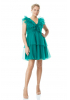 Green plus size tulle sleeveless mini dress