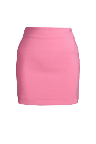 Pink crepe mini skirt
