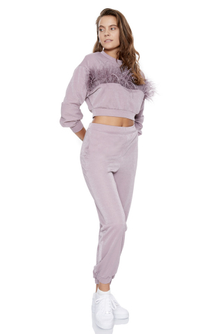 Lilac woven long sleeve