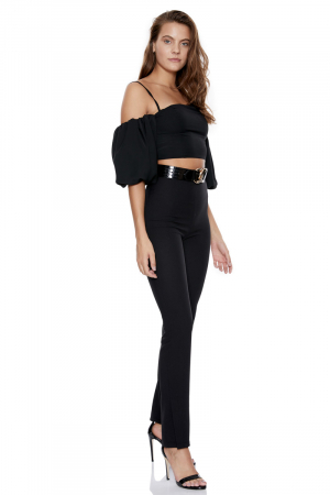 Black crepe sleeveless