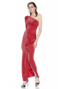 Red velvet 13 single sleeve maxi dress