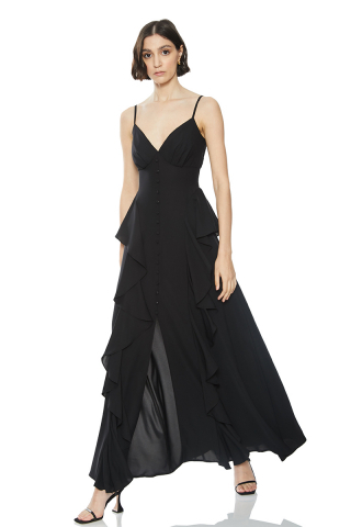 Black sleeveless long dress