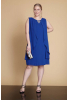 Sax plus size chiffon sleeveless mini dress