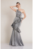 Silver knitted maxi dress