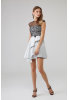White knitted sleeveless mini dress